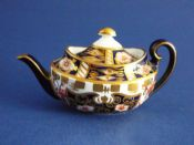 Superb Royal Crown Derby 'Imari Witches' Pattern 6299 Miniature Teapot c1907